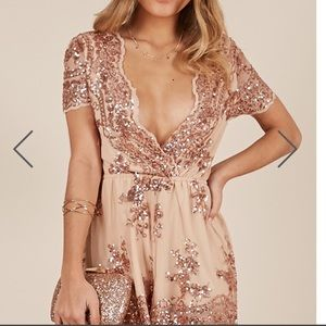 🔥Fabulous Gold Sequined Romper🔥